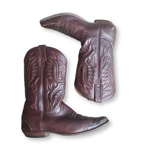 SANCHO Brown COWBOY BOOTS Size 45 (11.5 -12)